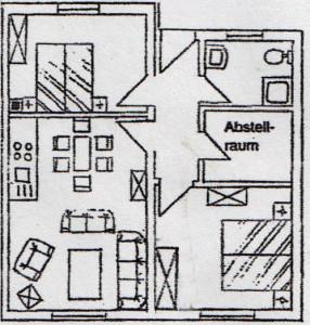 Grundriss Wohnung 2